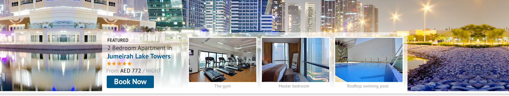 Stay Self-Catering at Jumeirah Lake Towers Holiday Apartments