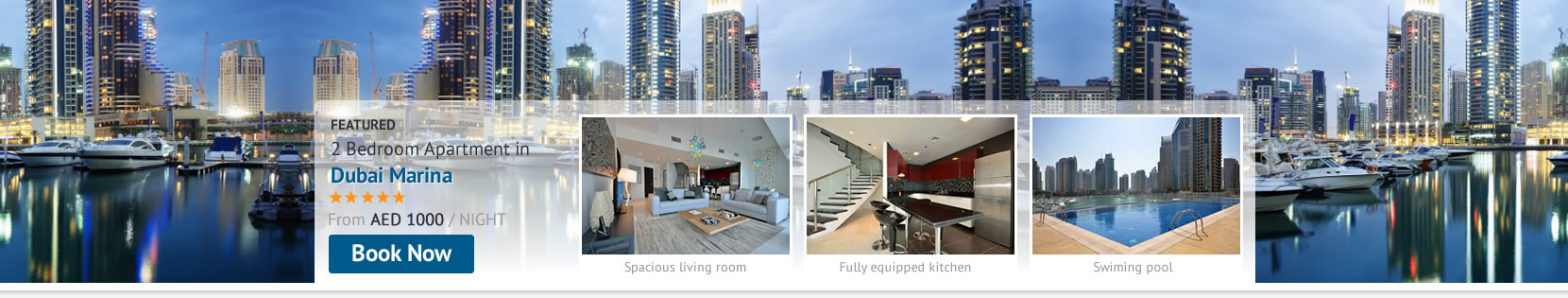 Enjoy waterfront living staying at Dubai Marina Holiday Rental Apartments