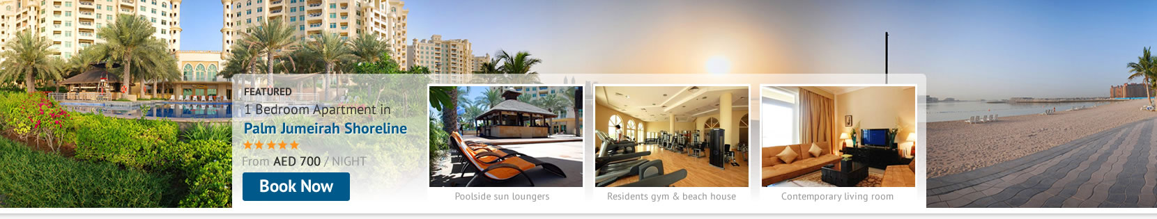 Stay Self-Catering at the Palm Jumeirah Shoreline Residence Holiday Apartments