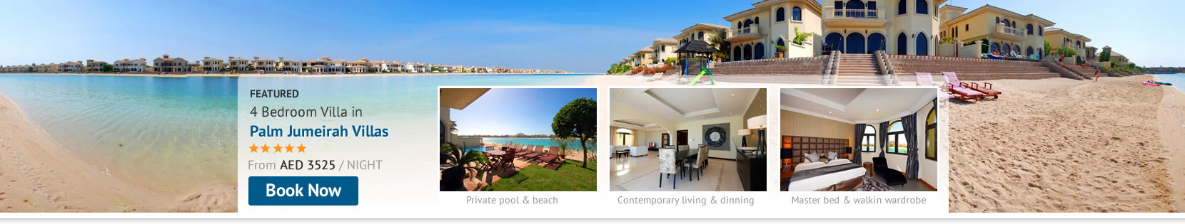 Book a Palm Jumeirah Villa and enjoy opulent living and privacy in your very own Holiday Home
